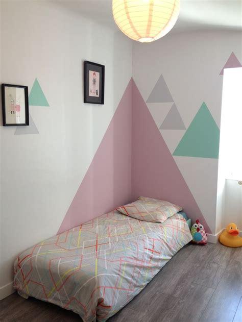 peinture mur chambre best 25 geometric wall ideas on geometric