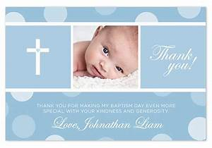baptism christening thank you card polka dots With baptism thank you card template