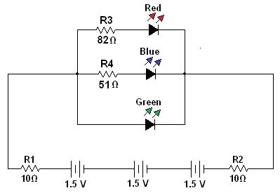 The Electric Circuit Leds Connected Parallel