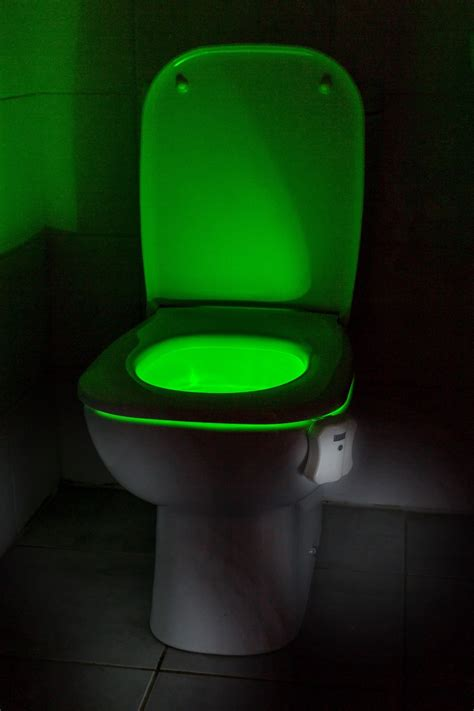 auraglow led motion activated toilet bowl night light