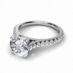 tall cathedral engagement ring wedding band bridal set With cathedral wedding ring
