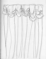 Curtains Drawing Stage Template Curtain Coloring Pages Getdrawings sketch template