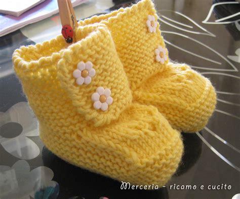Da Neonato - scarpine da neonato ai ferri