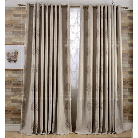 Country Drapes - coffee tree jacquard linen cotton blend country curtains