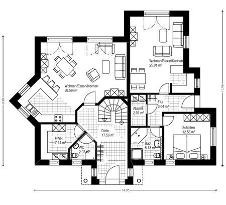 haus mit einliegerwohnung bauen www massivhaus musterhaus de massiv fertighaus ennigerloh eg gif grundrisse in 2019 haus mit