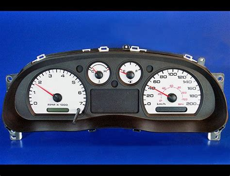 security system 2009 ford ranger instrument cluster 2004 2009 ford ranger metric kph kmh dash cluster white face gauges 04 09 ebay