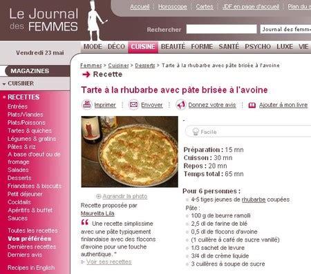 journal de femmes cuisine cuisine journal des femmes 28 images las 25 mejores