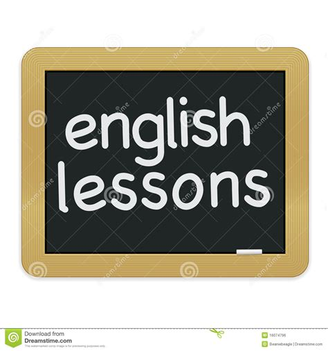 english lessons chalkboard eps stock vector illustration