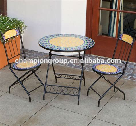 garden furniture mosaic table and chair mosaic bistro