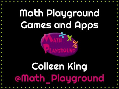 Math Playground Games And Apps