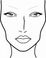 Face Blank Printable Charts Mac Coloring Sketch Makeup Chart Template Sketches Find Sketchite sketch template