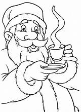 Coloring Chocolate Fudge Santa Drink Claus Template Sketch sketch template