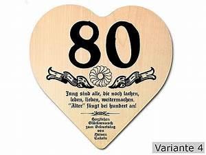 Besinnliches Zum 80 Geburtstag : herz holzschild zum 80 geburtstag 18x18x1 cm mit ihrem text hausnummern und schilder online ~ Frokenaadalensverden.com Haus und Dekorationen