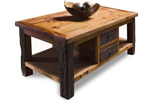 rustic wood table ls reclaimed wood lodge cabin rustic coffee table kathy kuo