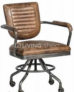 Chaise Bureau Vintage : chaise de bureau vintage en cuir marron en ligne living boutique en ligne ~ Teatrodelosmanantiales.com Idées de Décoration
