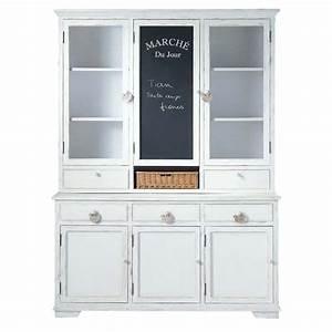 Buffet Blanc Maison Du Monde : vaisselier en bois blanc l 162 cm basse cour maisons du monde ~ Teatrodelosmanantiales.com Idées de Décoration