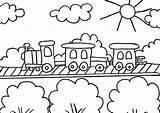 Train Coloring Tulamama Easy sketch template