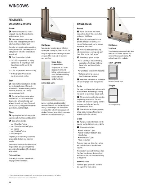 andersen product guide  series window door