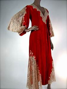 regal juel park valentine red relvet lace robe 193039s i With robe 1930