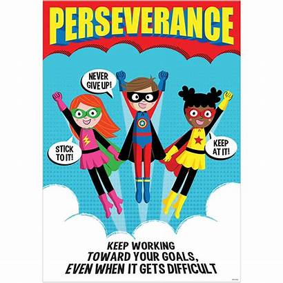 Perseverance Superhero Poster Teaching Education Character Inspirational