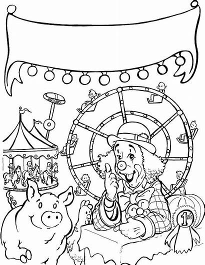 Fair Coloring Carnival Pages Web County State