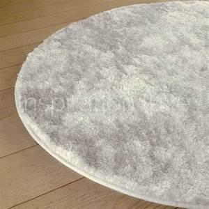 Tapis Shaggy Blanc : tapis sur mesure rond blanc shaggy fin par inspiration luxe ~ Preciouscoupons.com Idées de Décoration
