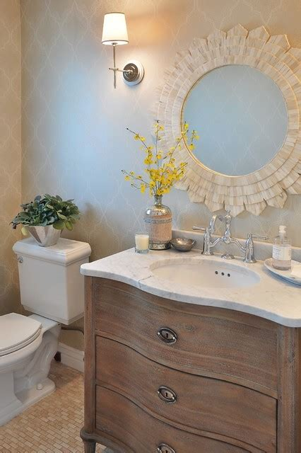arcadia french country traditional powder room
