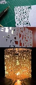 Lampe Mit Buchstaben : diy lampe 76 super coole bastelideen dazu ~ Watch28wear.com Haus und Dekorationen