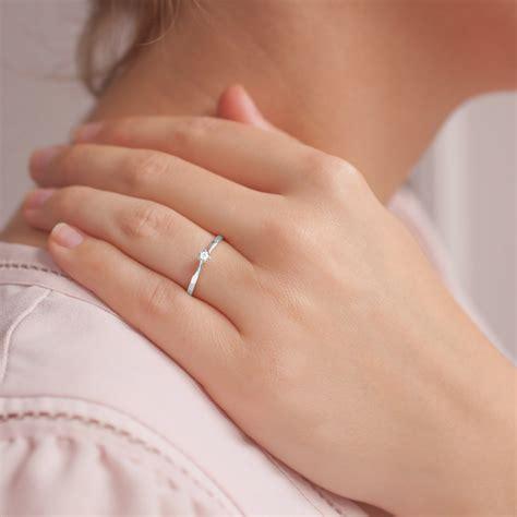 blue wedding ring anillo de compromiso oro blanco con diamante 0 04k ocarat