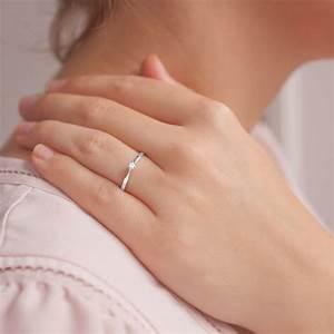 Anillo de compromiso Oro Blanco con Diamante 0 04k Ocarat