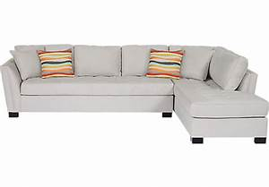 Cindy crawford home calvin heights xl platinum 2 pc for Olympian platinum 2pc sectional sofa dimensions