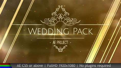 wedding pack project for after effects videohive