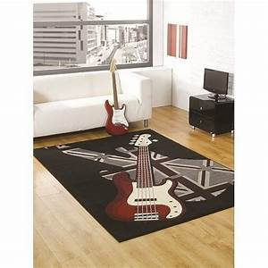 tapis chambre ado guitare boys rock flair rugs 120x160 With tapis chambre ado garçon