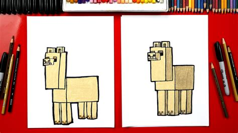 draw  minecraft llama art  kids hub