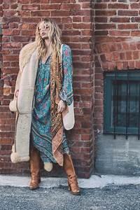 Vetement Femme Rock Chic : 1001 looks parfaits d 39 automne hiver avec une tenue boh me chic mode femme pinterest ~ Melissatoandfro.com Idées de Décoration