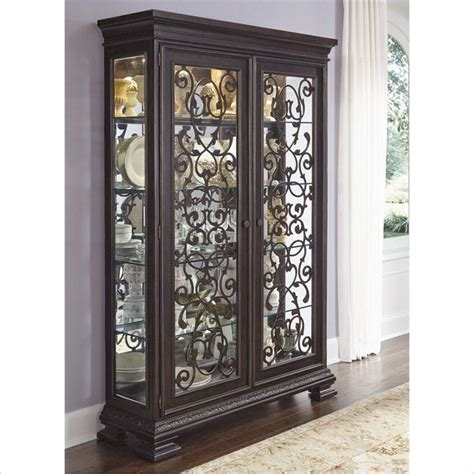 Pulaski Curio Display Cabinet In Black Granite by Pulaski Monarch China Black Curio Cabinet Ebay