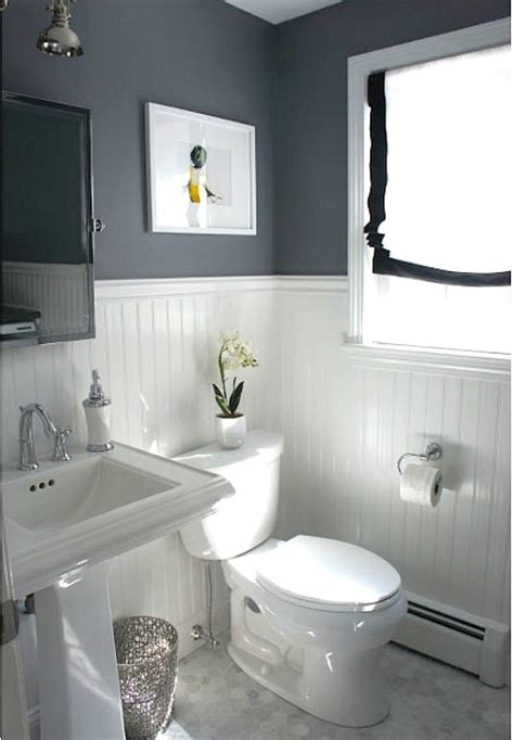 before after updating a half bath laundry room