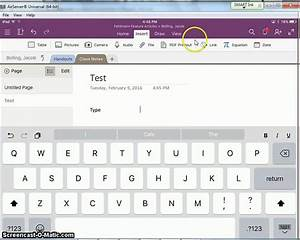 Insert And Draw Features In Onenote Ipad