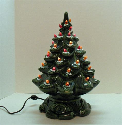 small vintage ceramic tree light up base faux