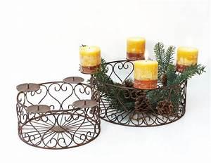Adventskranz Aus Metall Dekorieren : dekokorb aus metall auch als adventskranz f r weihnachten ~ Michelbontemps.com Haus und Dekorationen
