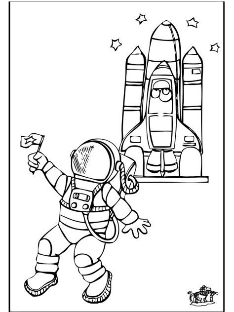 astronaut  kleurplaten ruimtevaart