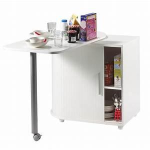 Meuble Rangement Cuisine : table pivotante et meuble de rangement de cuisine blanc ~ Melissatoandfro.com Idées de Décoration