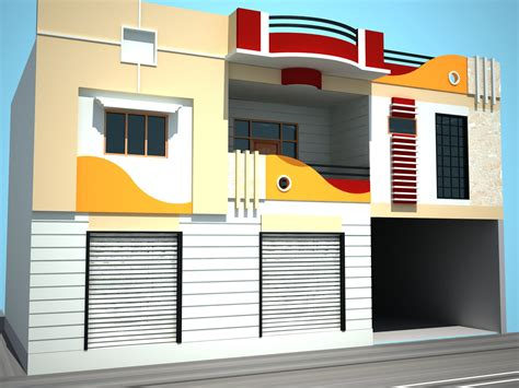 3d Building Front Elevation Photos In Coimbatore