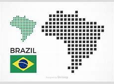 Free Brazil Vector Pixel Map Download Free Vector Art