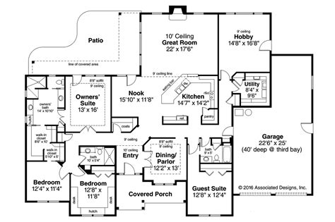 1 home plans 4 bedroom ranch style homescountry ranch house plan plans