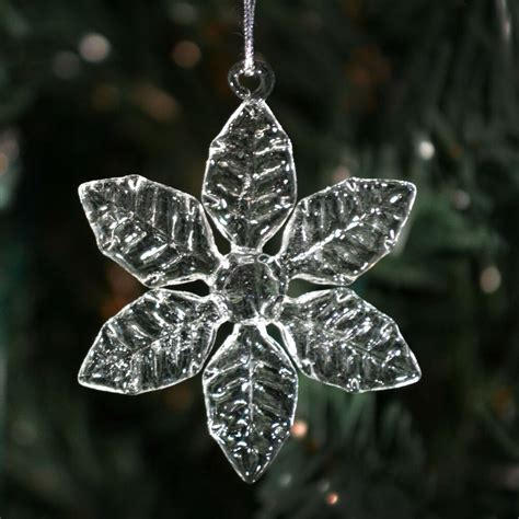 Clear Glass Snowflakes Different Styles Christmas