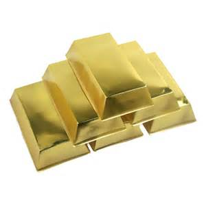 themed table decorations gold bars