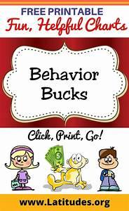 Preschool Chore Chart Free Printable Behavior Bucks For Kids Kids Rewards