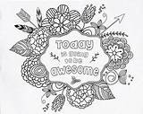 Coloring Awesome Going Today Pages Quote Adult Printable Bible Matthew Inspirational Verse Verses Adults Therapy Sheets Unique Teacher Sold Etsy sketch template
