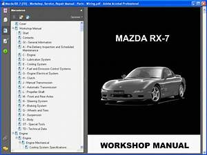 Mazda Rx-7  Fd  - Service Manual - Wiring Diagram
